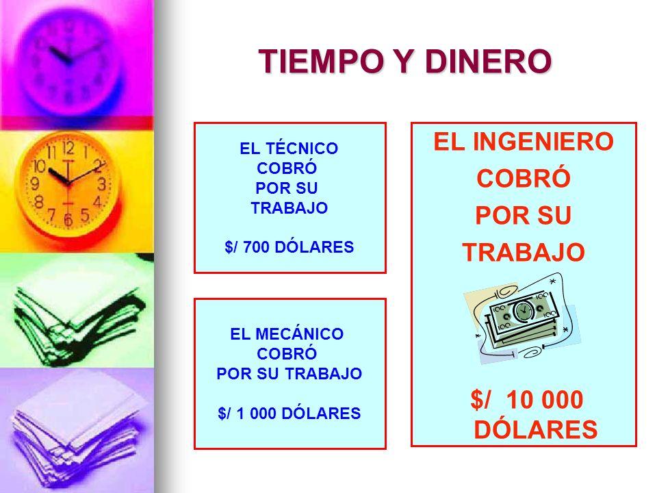 EL INGENIERO COBRÓ POR SU TRABAJO $/ 10 000 DÓLARES