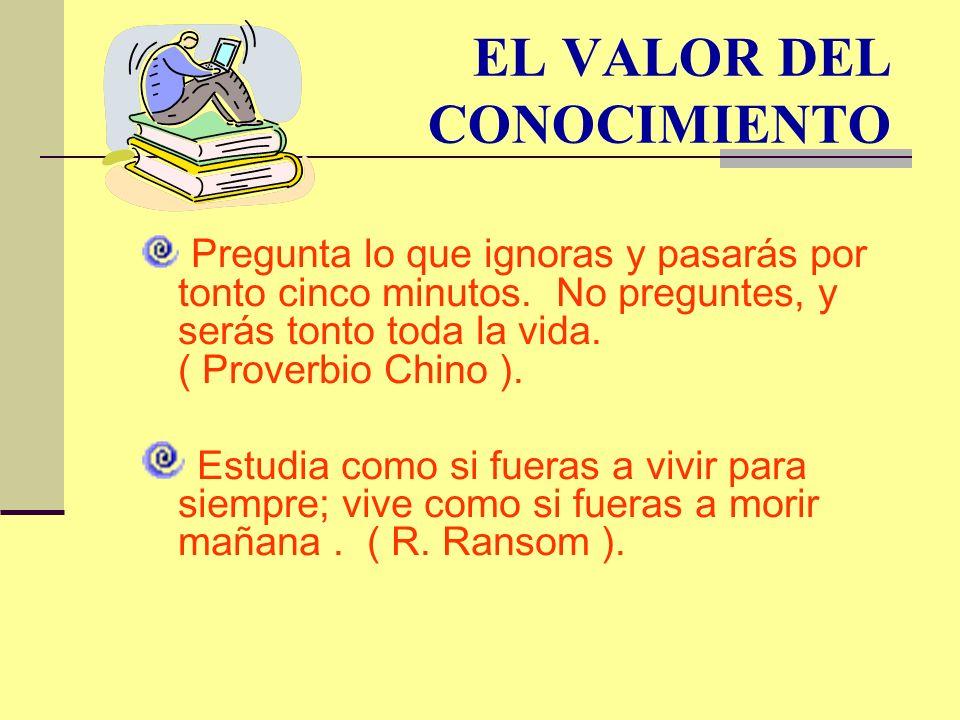 EL VALOR DEL CONOCIMIENTO