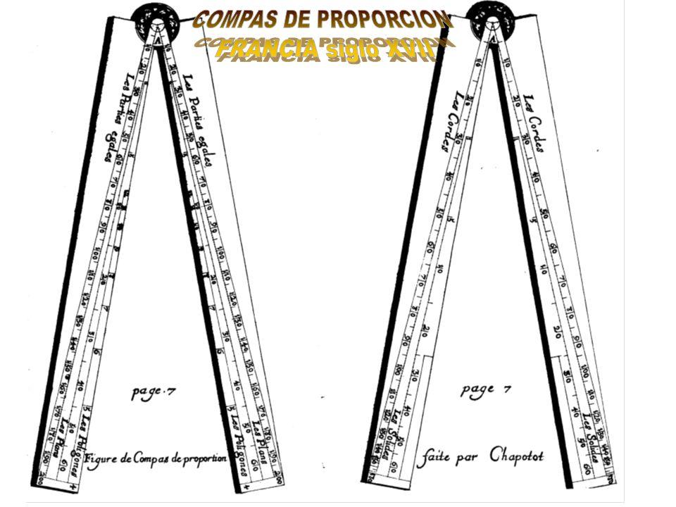 COMPAS DE PROPORCION FRANCIA siglo XVII
