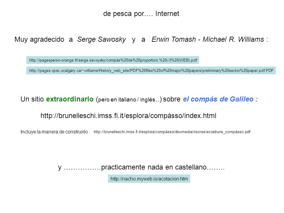 y …………….practicamente nada en castellano……..