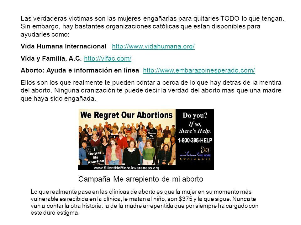 Campaña Me arrepiento de mi aborto