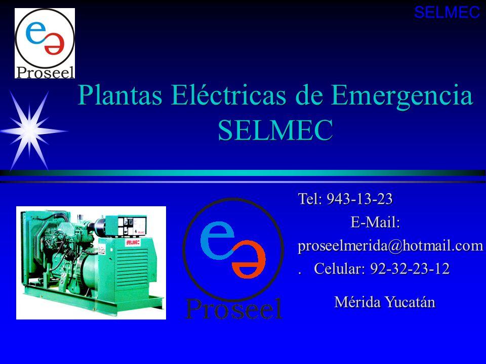 Plantas Eléctricas de Emergencia SELMEC