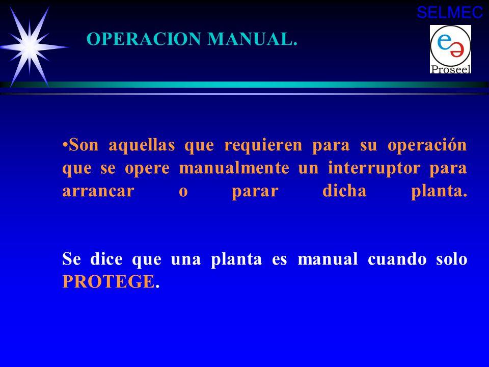 SELMEC OPERACION MANUAL.