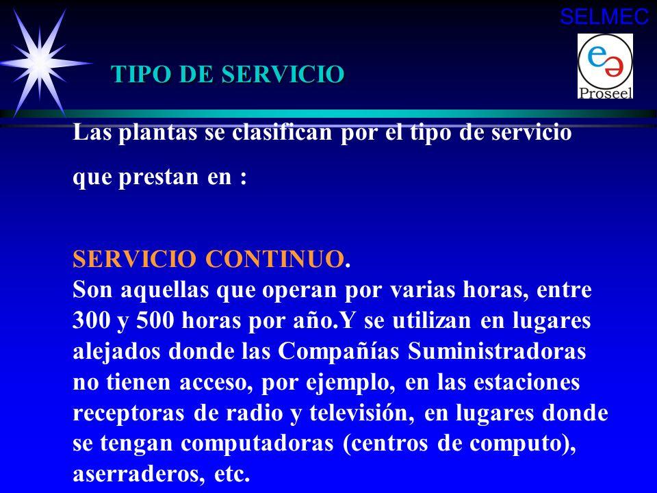 SELMEC TIPO DE SERVICIO.