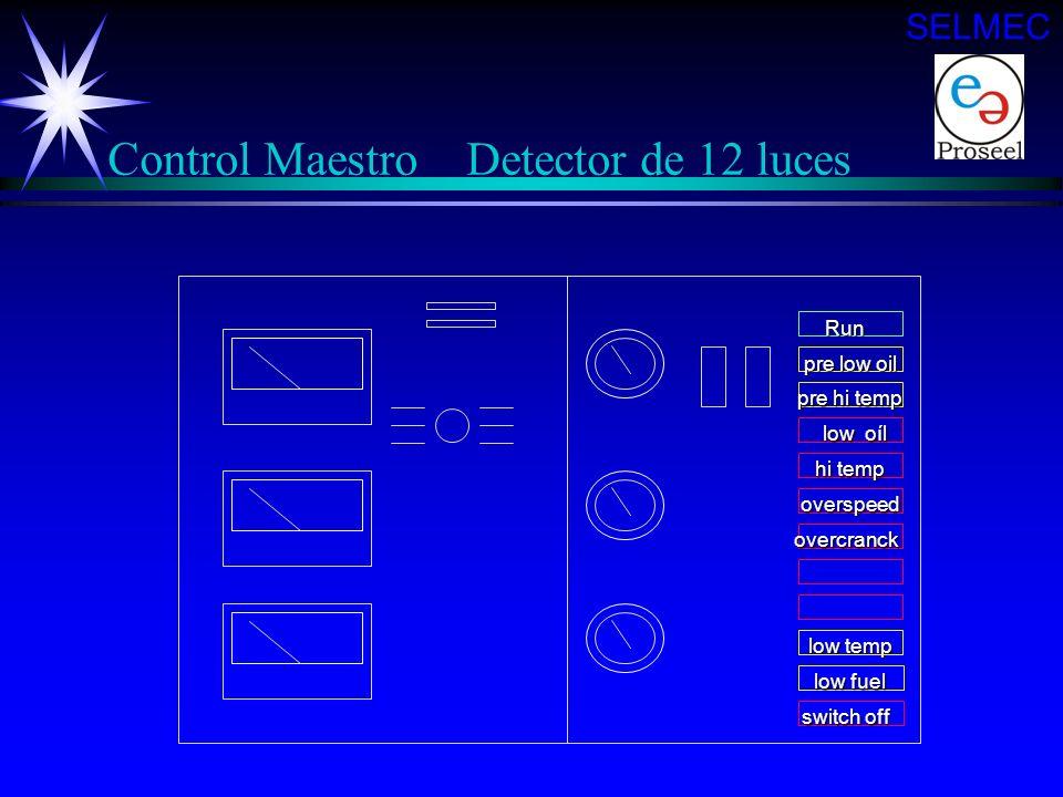 Control Maestro Detector de 12 luces
