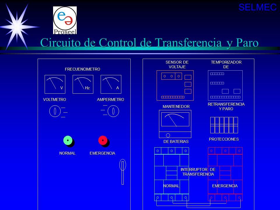 Circuito de Control de Transferencia y Paro