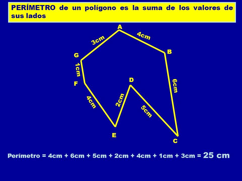 Perímetro = 4cm + 6cm + 5cm + 2cm + 4cm + 1cm + 3cm = 25 cm