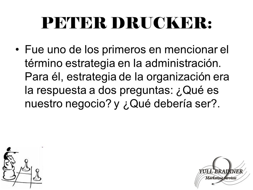 PETER DRUCKER: