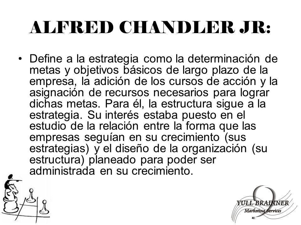 ALFRED CHANDLER JR: