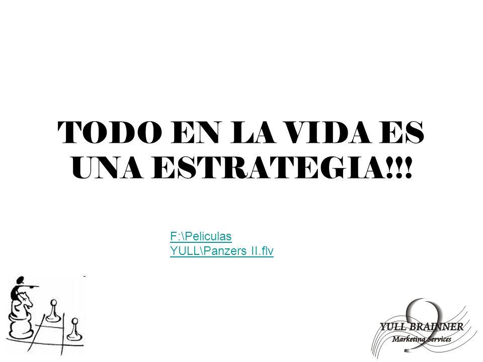 TODO EN LA VIDA ES UNA ESTRATEGIA!!!