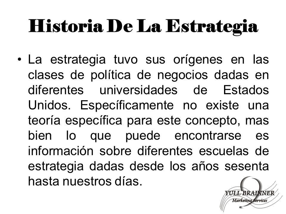 Historia De La Estrategia