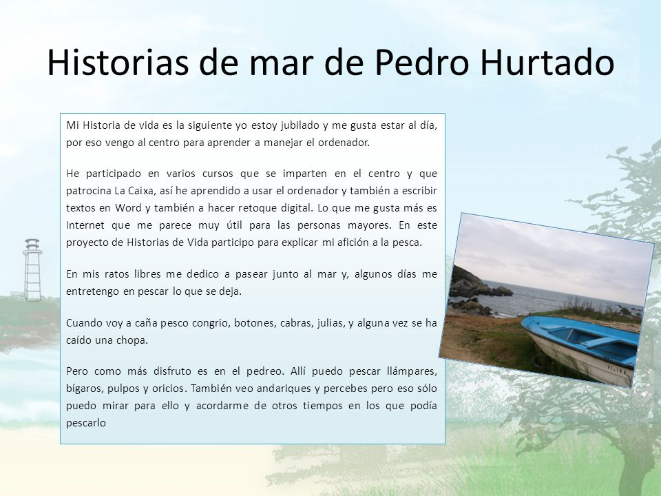 Historias de mar de Pedro Hurtado