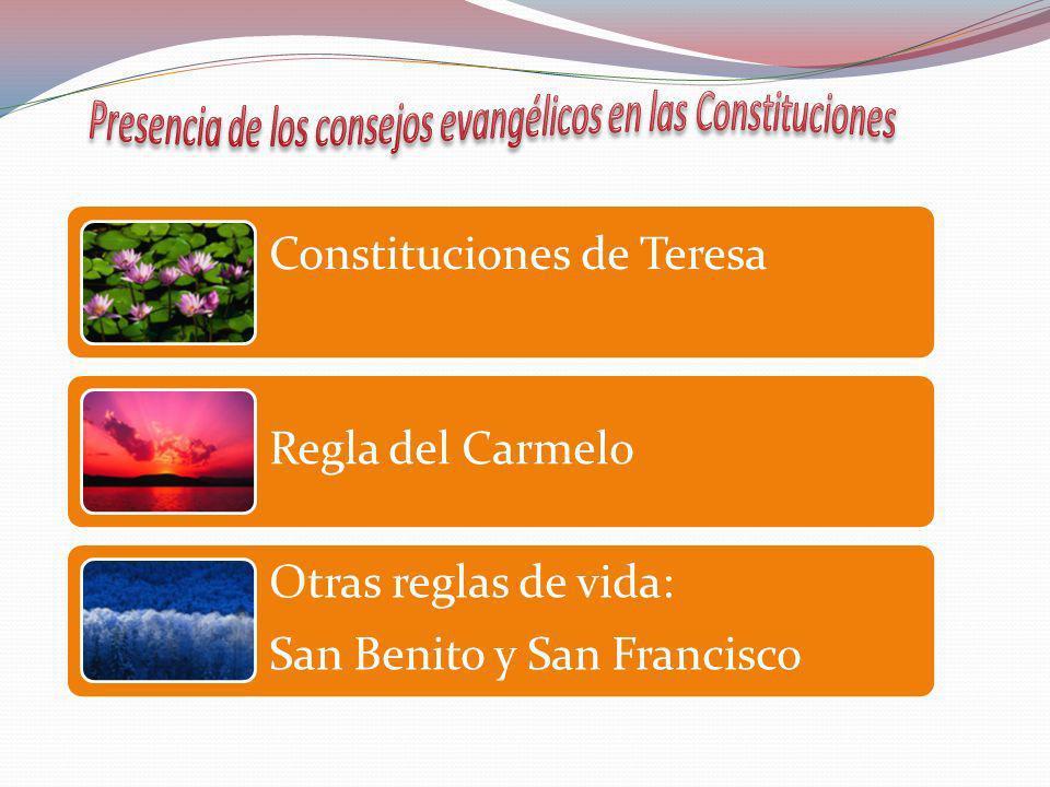 Presencia de los consejos evangélicos en las Constituciones