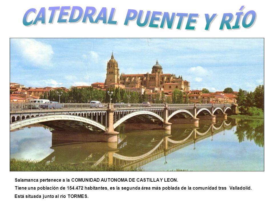 CATEDRAL PUENTE Y RÍO Salamanca pertenece a la COMUNIDAD AUTONOMA DE CASTILLA Y LEON.