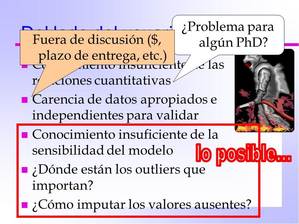 Del lado del usuario… lo posible... ¿Problema para algún PhD