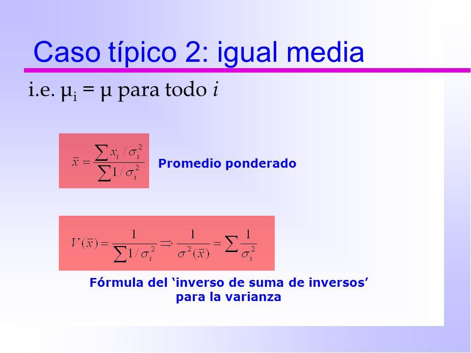 Caso típico 2: igual media