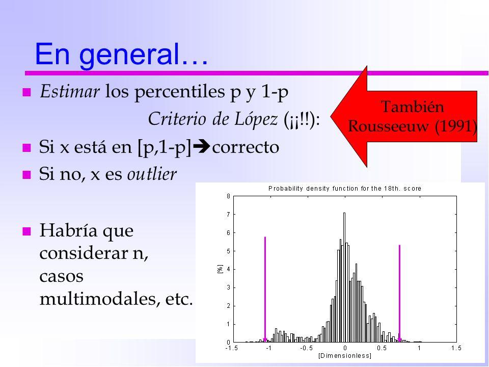 Criterio de López (¡¡!!):