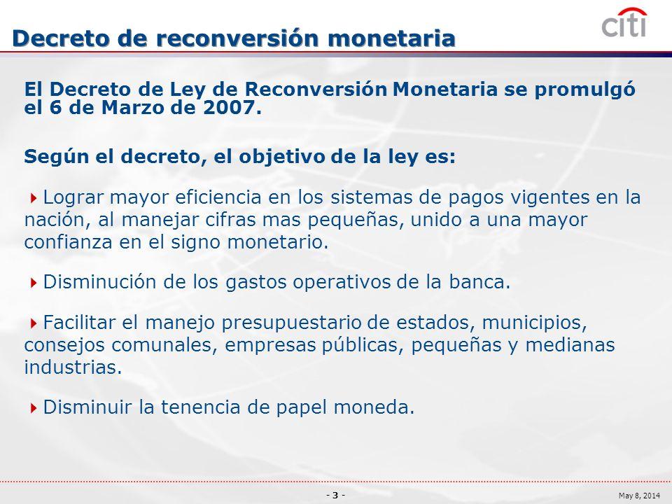 Decreto de reconversión monetaria