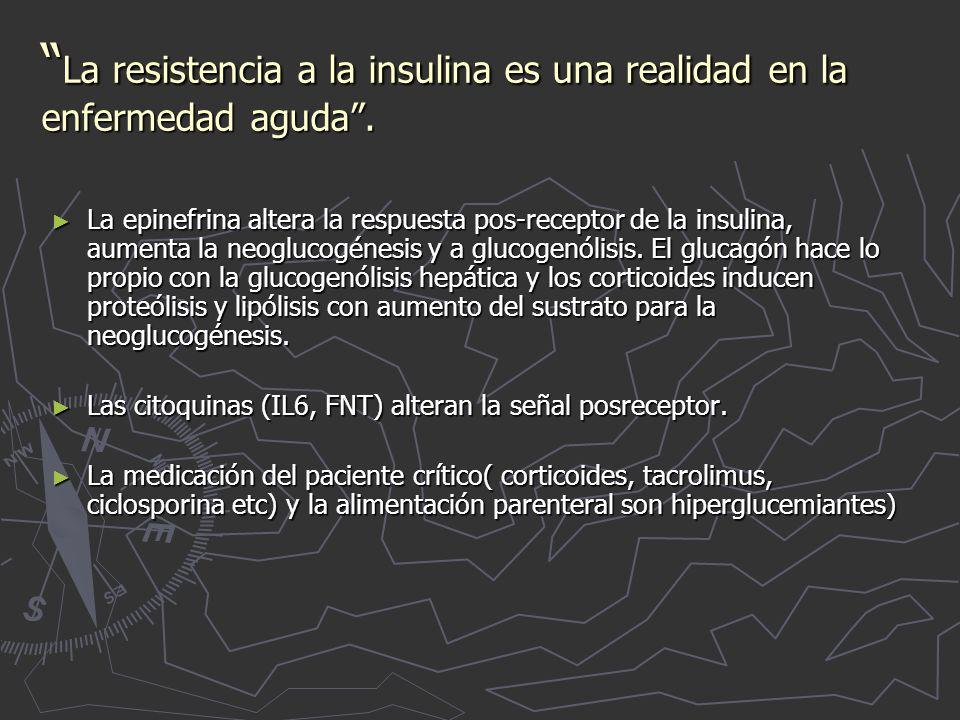 La resistencia a la insulina es una realidad en la enfermedad aguda .