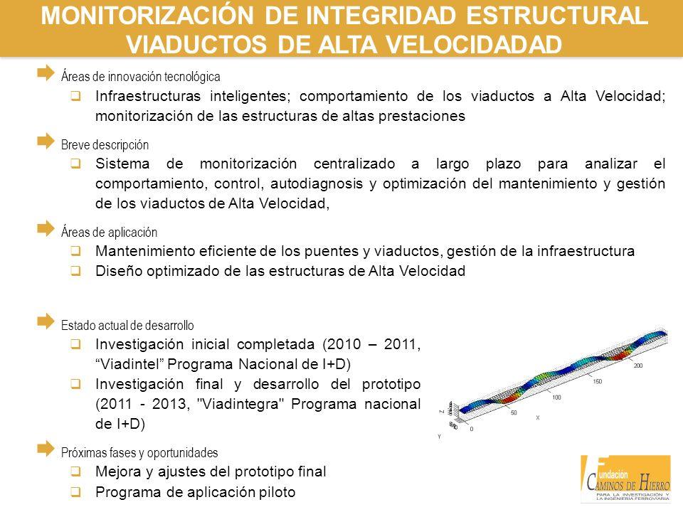 MONITORIZACIÓN DE INTEGRIDAD ESTRUCTURAL VIADUCTOS DE ALTA VELOCIDADAD