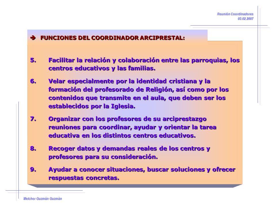 Reunión Coordinadores 03.02.2007