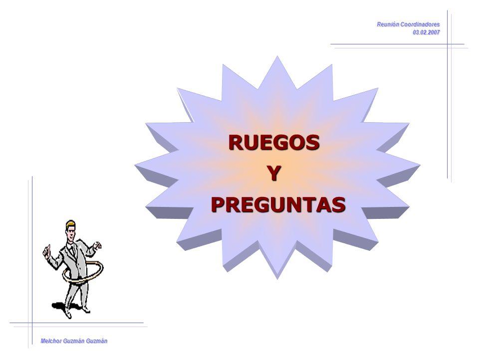 RUEGOS Y PREGUNTAS Reunión Coordinadores 03.02.2007