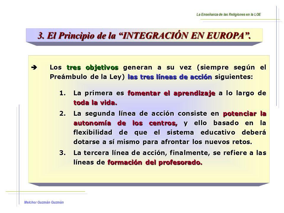 3. El Principio de la INTEGRACIÓN EN EUROPA .