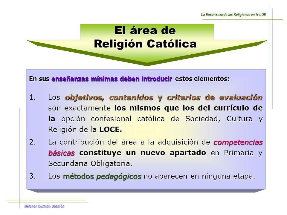 El área de Religión Católica