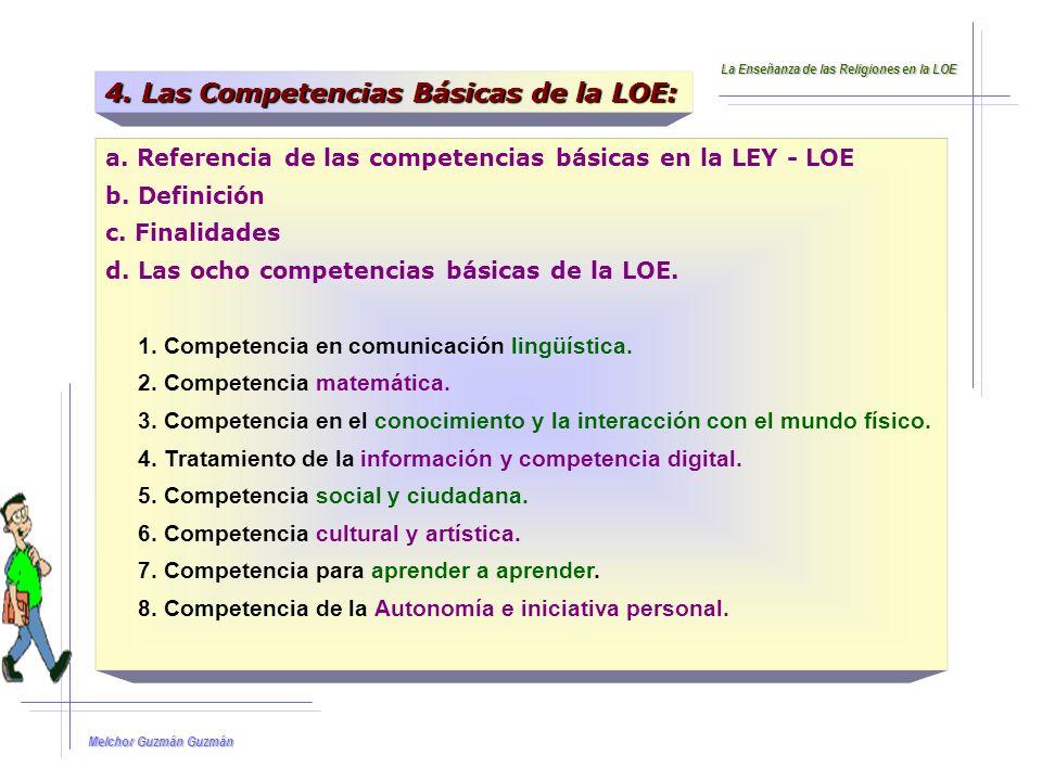 4. Las Competencias Básicas de la LOE: