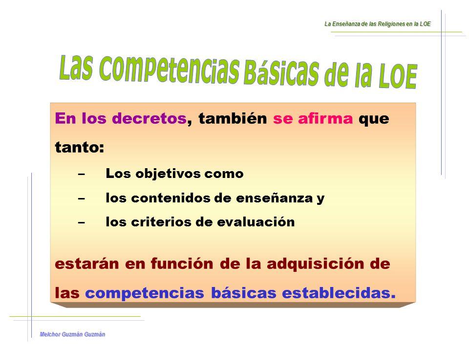 Las Competencias Básicas de la LOE