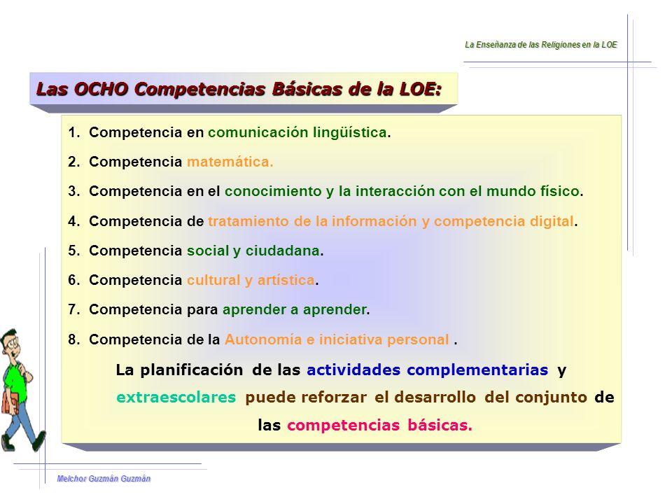 Las OCHO Competencias Básicas de la LOE: