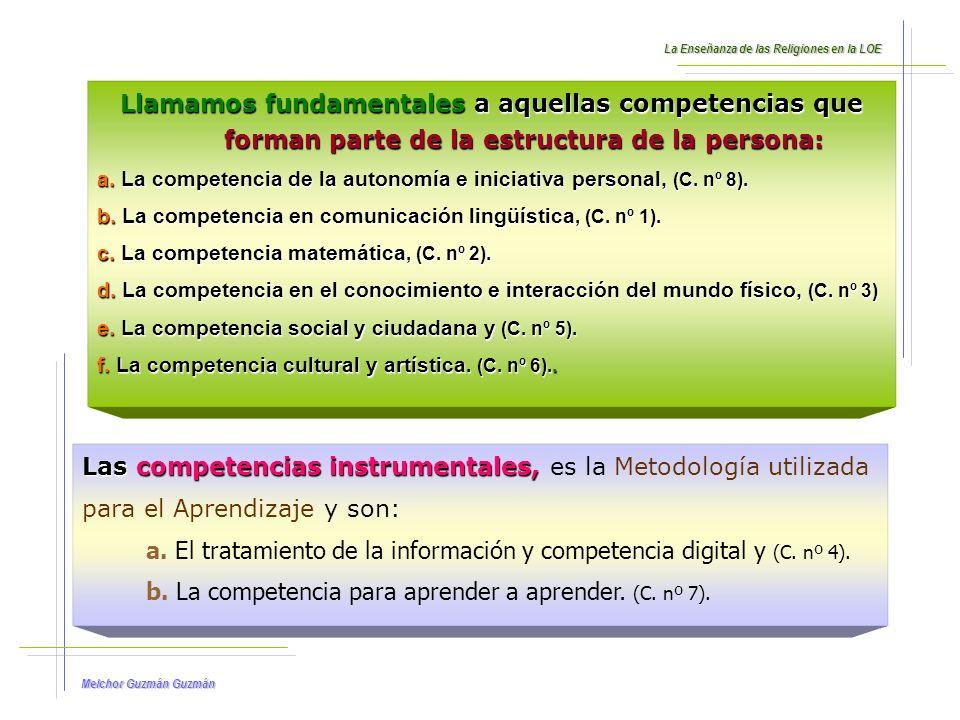 Las competencias instrumentales, es la Metodología utilizada