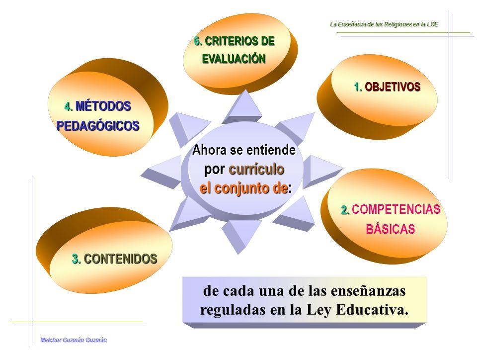 de cada una de las enseñanzas reguladas en la Ley Educativa.