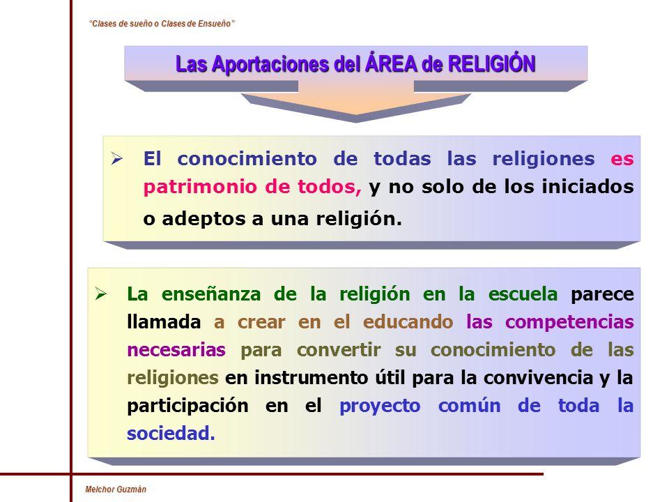 Las Aportaciones del ÁREA de RELIGIÓN
