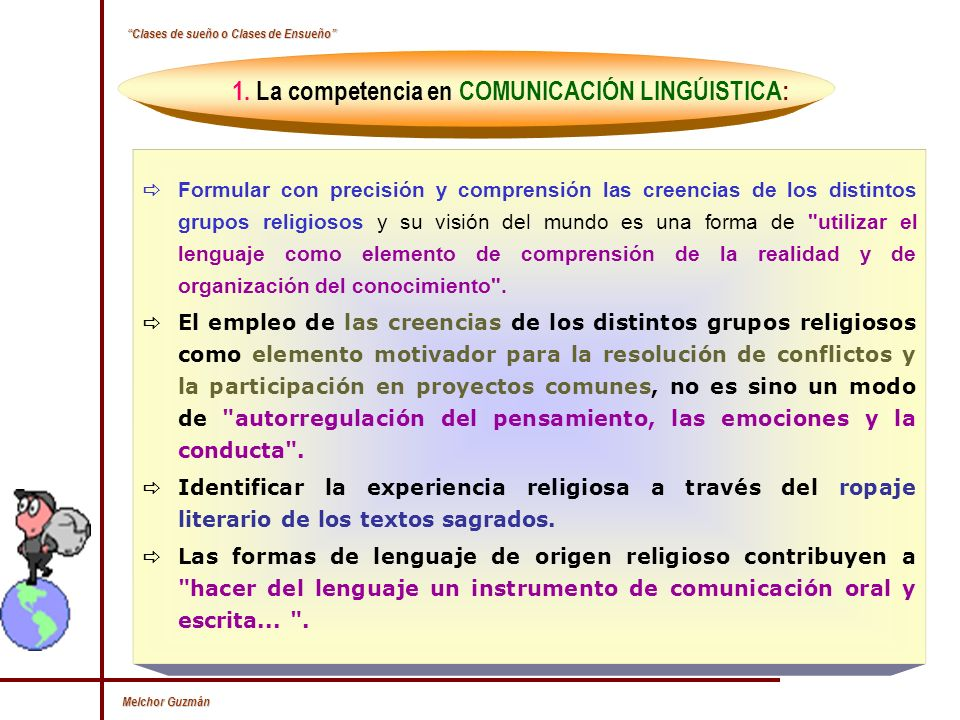 1. La competencia en COMUNICACIÓN LINGÚISTICA: