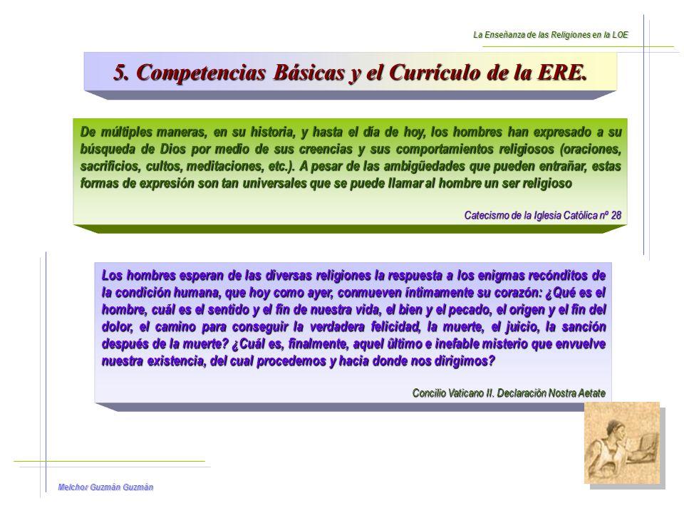5. Competencias Básicas y el Currículo de la ERE.