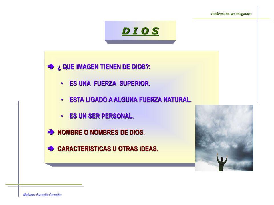 D I O S ¿ QUE IMAGEN TIENEN DE DIOS : ES UNA FUERZA SUPERIOR.