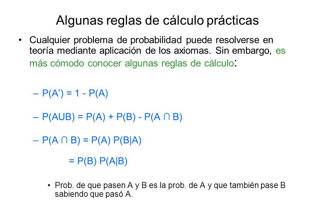 Algunas reglas de cálculo prácticas