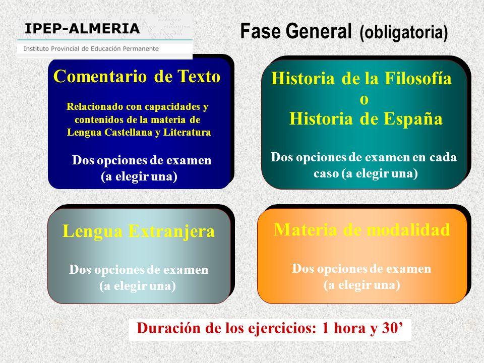 Fase General (obligatoria)
