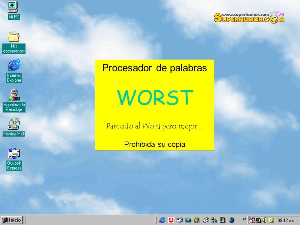 WORST Procesador de palabras Parecido al Word pero mejor...