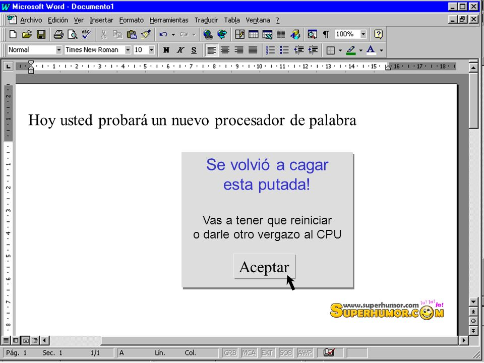Hoy usted probará un nuevo procesador de palabra
