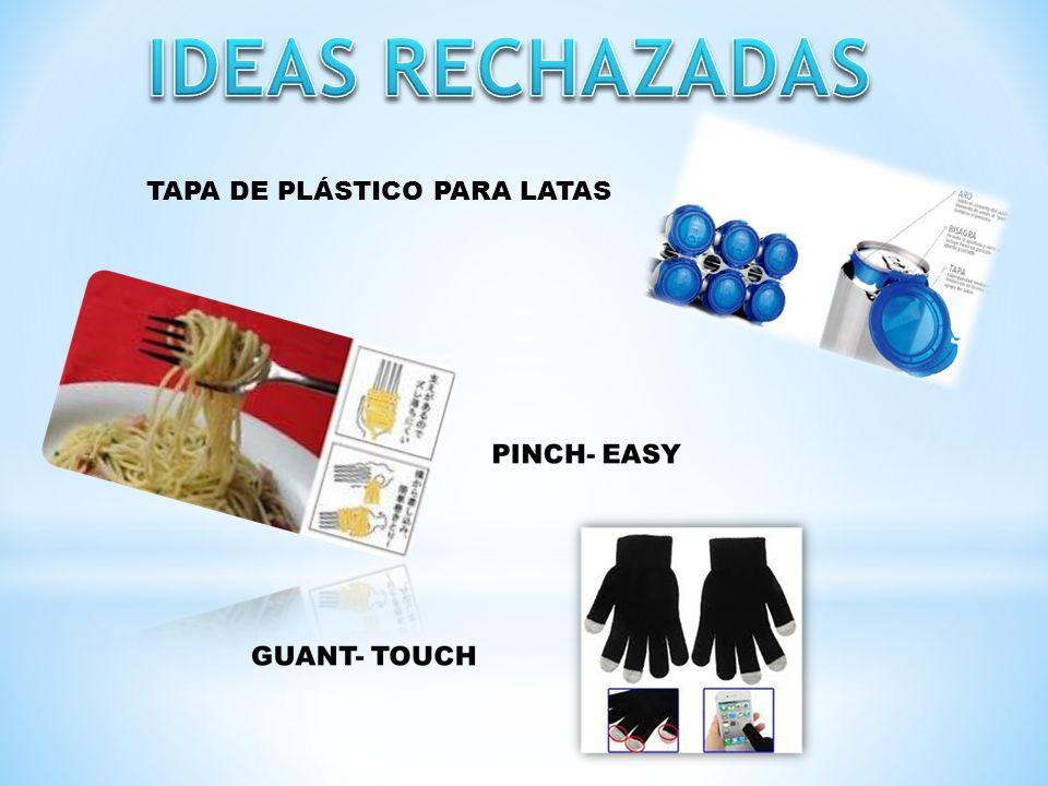 IDEAS RECHAZADAS TAPA DE PLÁSTICO PARA LATAS