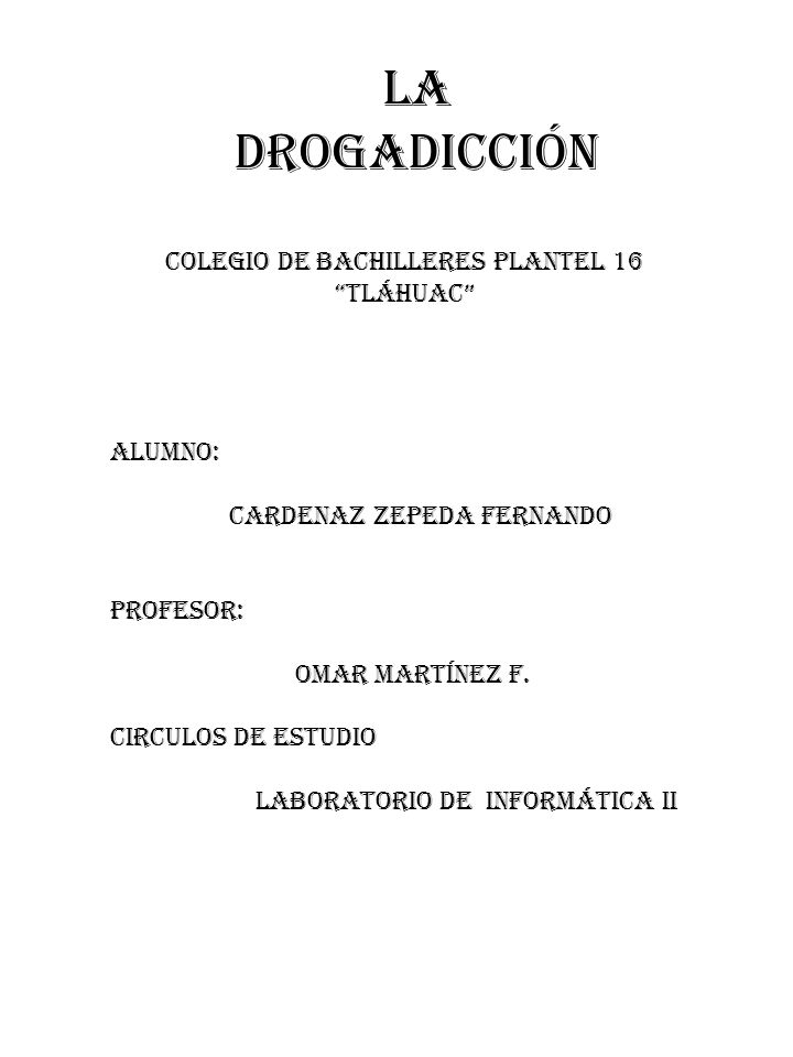 COLEGIO DE BACHILLERES PLANTEL 16 TLÁHUAC