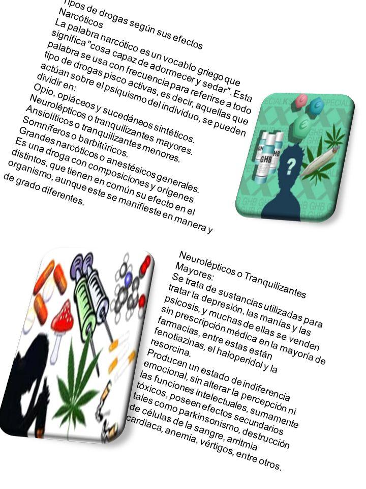 Tipos de drogas según sus efectos