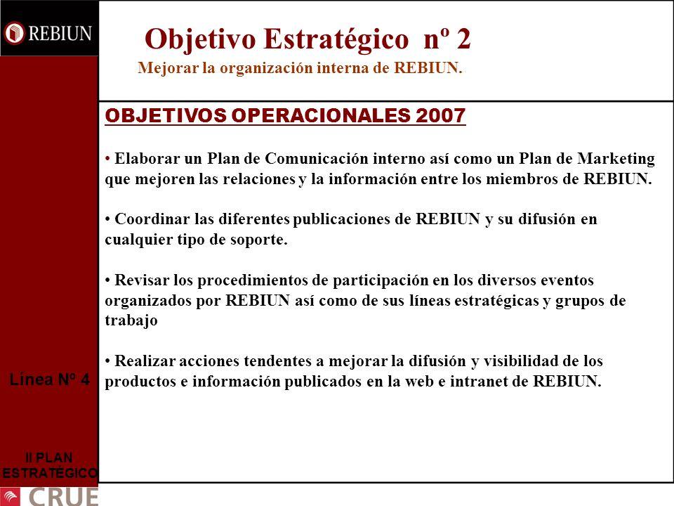 Mejorar la organización interna de REBIUN.