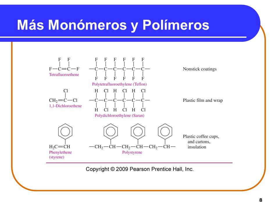 Más Monómeros y Polímeros