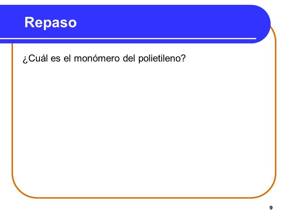 Repaso ¿Cuál es el monómero del polietileno