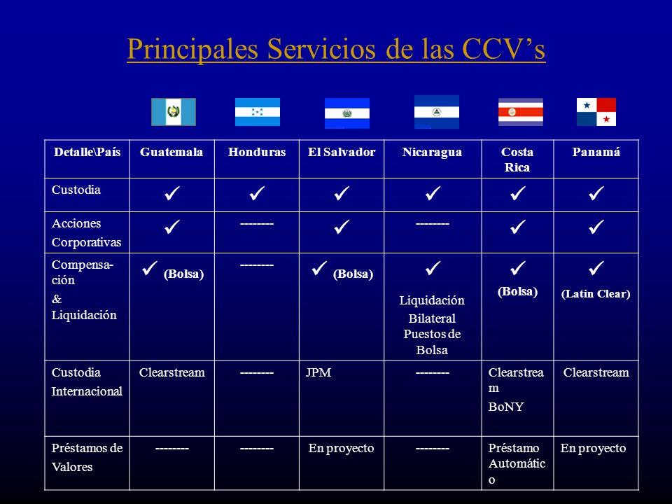 Principales Servicios de las CCV's