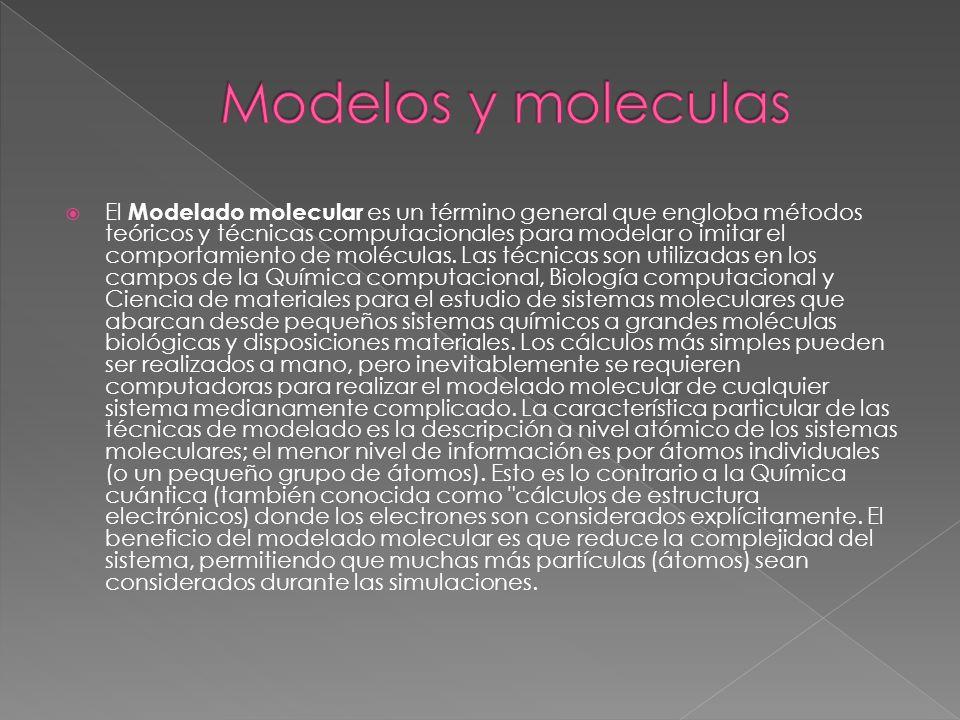 Modelos y moleculas