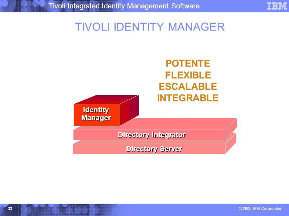 TIVOLI IDENTITY MANAGER